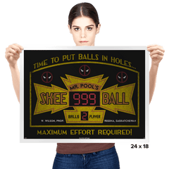 Mr. Pool's Skee Ball - Prints - Posters - RIPT Apparel