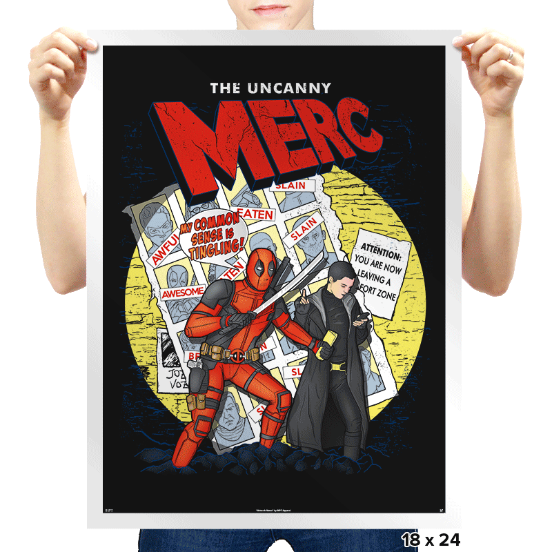 The Uncanny Merc - Prints - Posters - RIPT Apparel