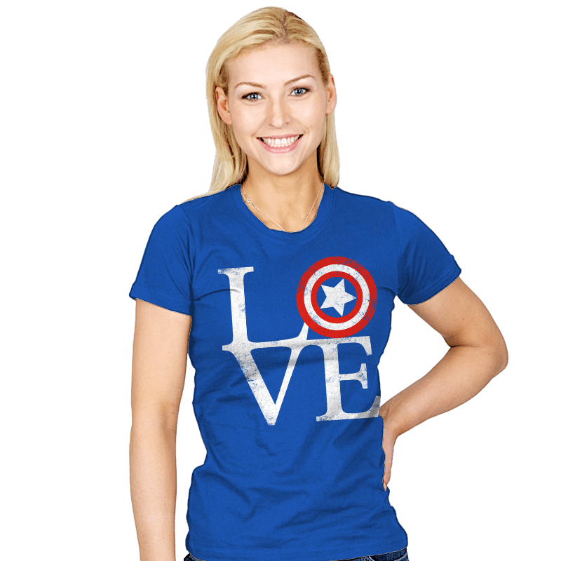 America Love - Womens - T-Shirts - RIPT Apparel