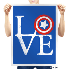 America Love - Prints - Posters - RIPT Apparel