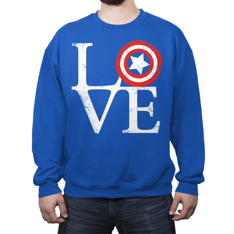 America Love - Crew Neck - Crew Neck - RIPT Apparel