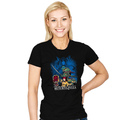 Shell Wars: Return of the Pizza - Womens - T-Shirts - RIPT Apparel