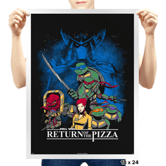 Shell Wars: Return of the Pizza - Prints - Posters - RIPT Apparel