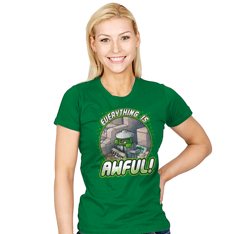 Everything is Awful! - Womens - T-Shirts - RIPT Apparel