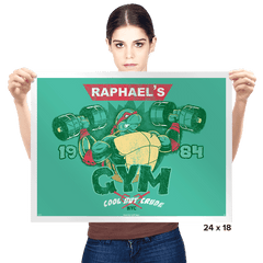 Raph's Gym - Prints - Posters - RIPT Apparel