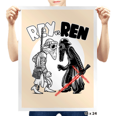 Rey vs Ren - Prints - Posters - RIPT Apparel