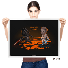 The Floor Is Lava - Prints - Posters - RIPT Apparel
