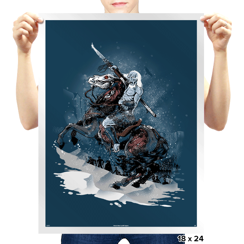 Walker Crossing the North - Prints - Posters - RIPT Apparel