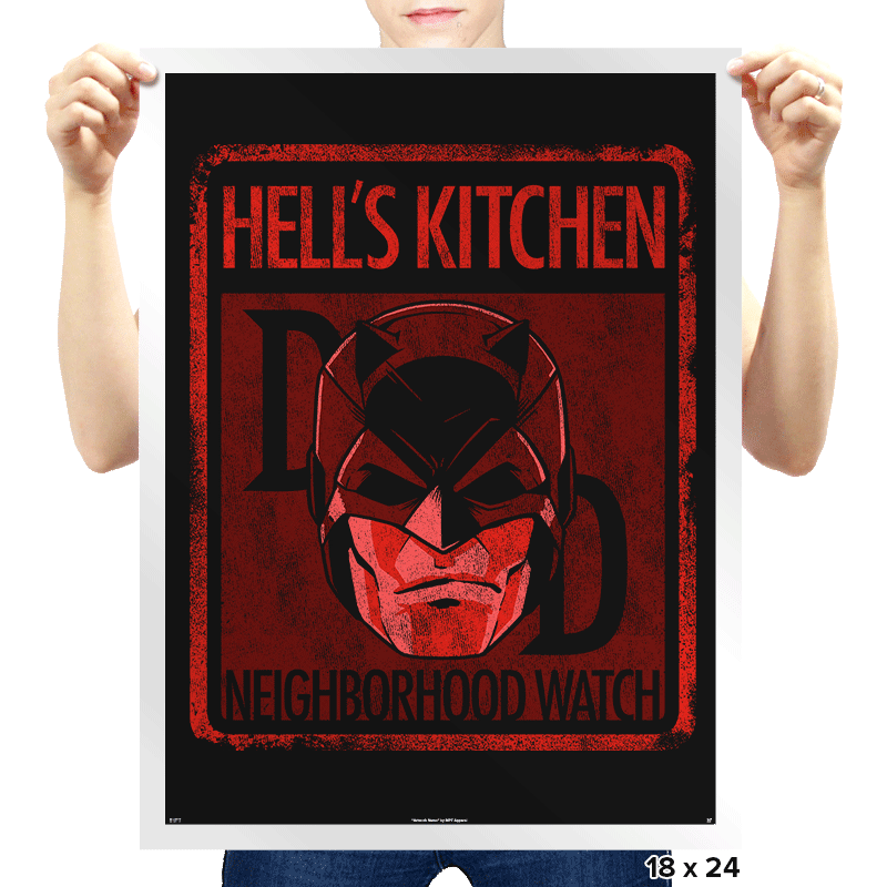 Hell's Kitchen Neighborhood Watch - Prints - Posters - RIPT Apparel