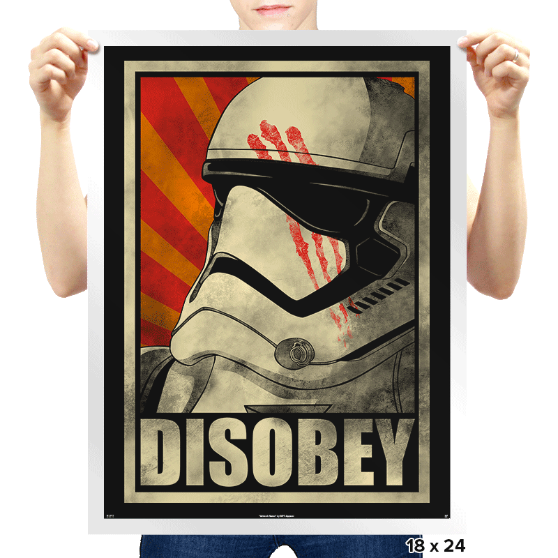Disobey! - Prints - Posters - RIPT Apparel