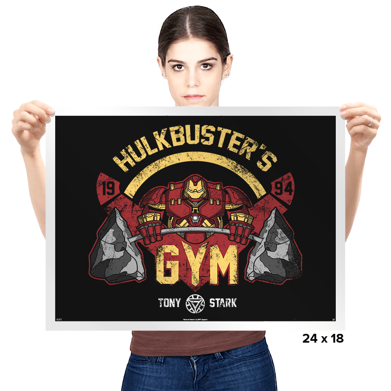 Hulkbuster's Gym - Prints - Posters - RIPT Apparel
