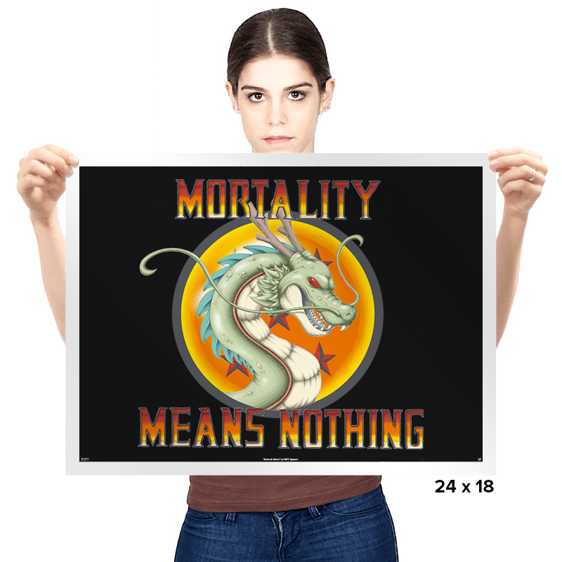 Mortality Means Nothing - Prints - Posters - RIPT Apparel