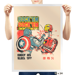 Rock 'em Sock 'em Rivals Exclusive - Prints - Posters - RIPT Apparel