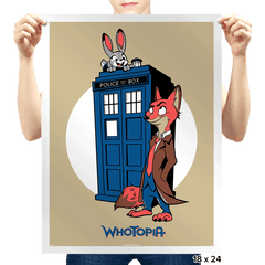 Whotopia - Prints - Posters - RIPT Apparel