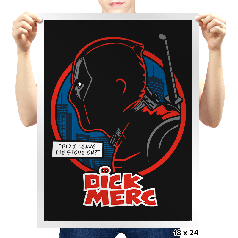 Dick Merc Logo - Prints - Posters - RIPT Apparel