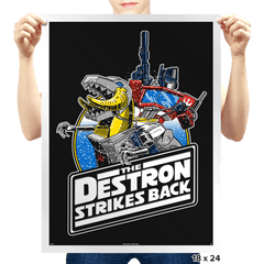 The Destron Strikes Back - Prints - Posters - RIPT Apparel