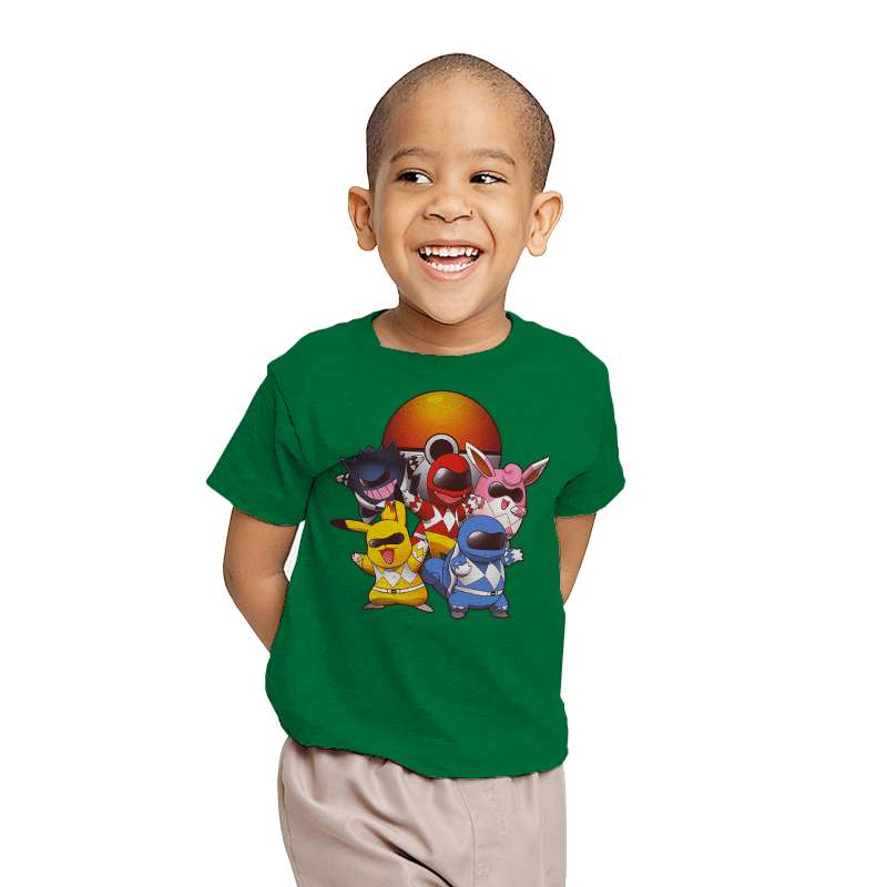 Go Go Poke Rangers - Youth - T-Shirts - RIPT Apparel