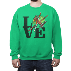 TMNT Love - Crew Neck - Crew Neck - RIPT Apparel