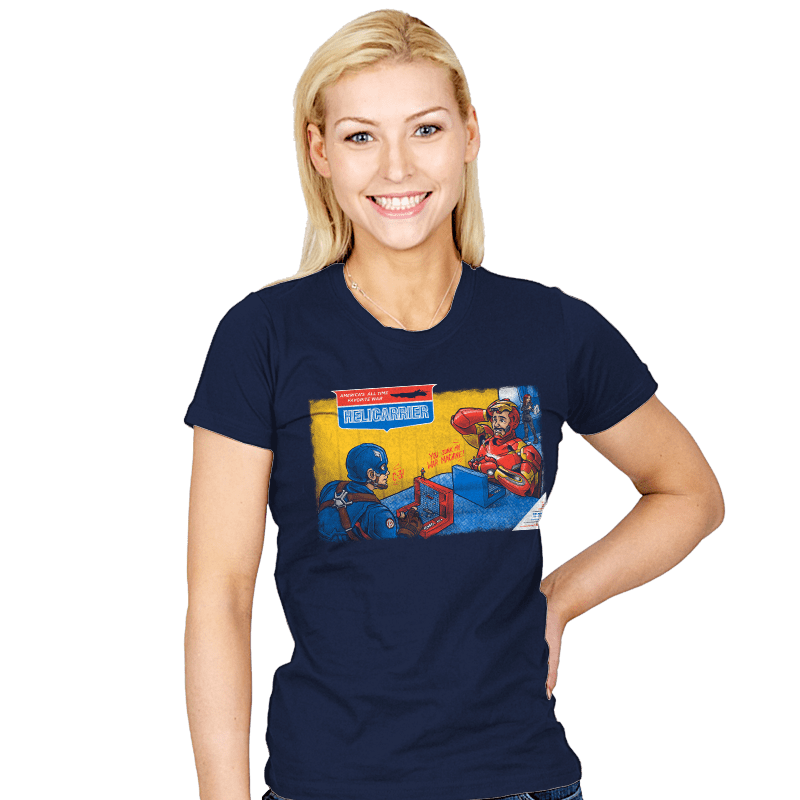 Hellicarrier: The Game! - Womens - T-Shirts - RIPT Apparel