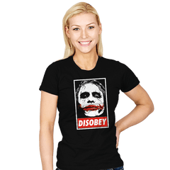 Chaos and Disobey - Womens - T-Shirts - RIPT Apparel