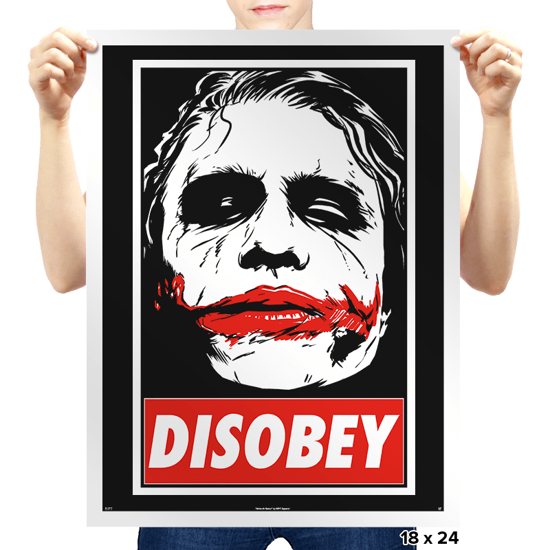 Chaos and Disobey - Prints - Posters - RIPT Apparel
