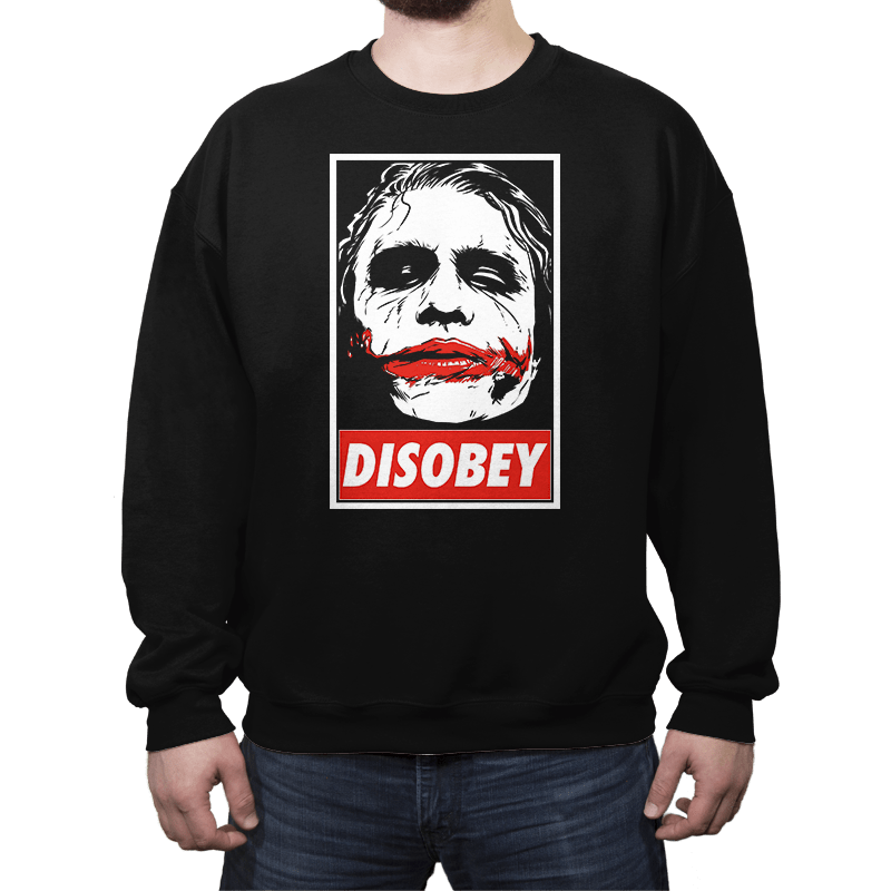 Chaos and Disobey - Crew Neck - Crew Neck - RIPT Apparel