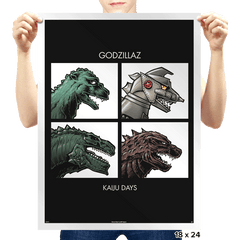 Godzillaz - Kaiju Days Exclusive - Prints - Posters - RIPT Apparel