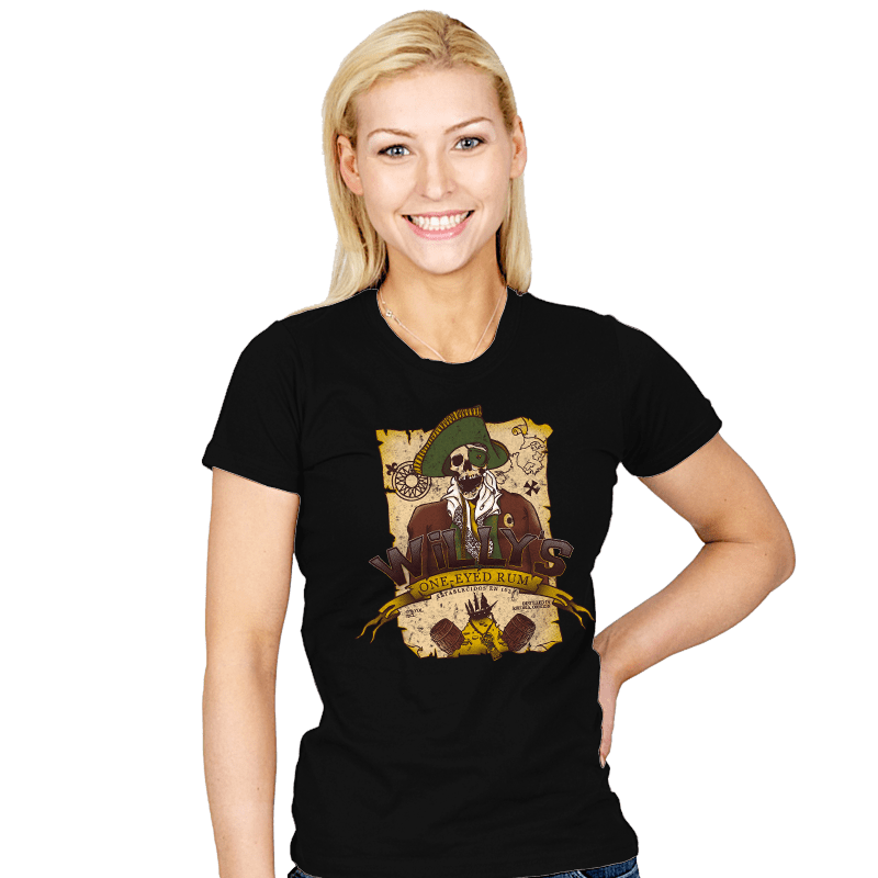 Willy's One-Eyed Rum - Womens - T-Shirts - RIPT Apparel