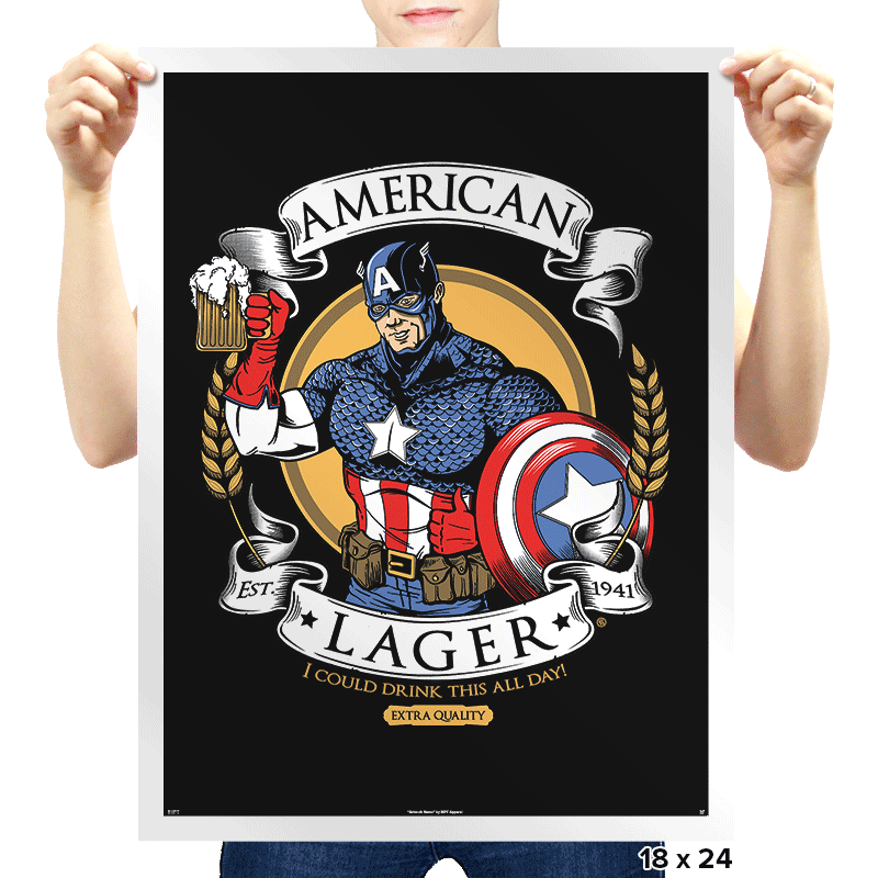 American Lager - Prints - Posters - RIPT Apparel