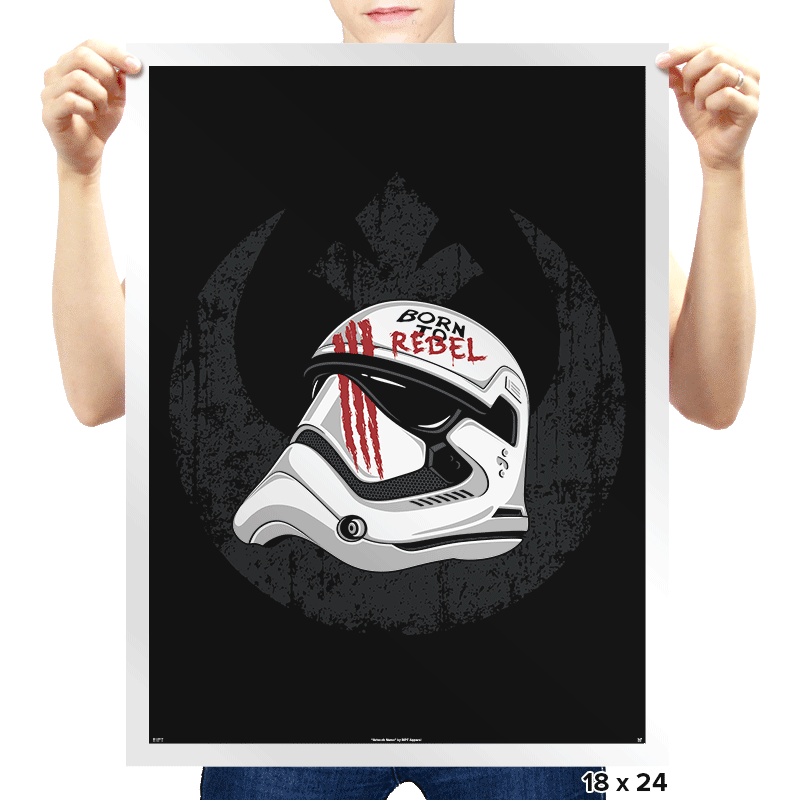 Born to Rebel - Prints - Posters - RIPT Apparel