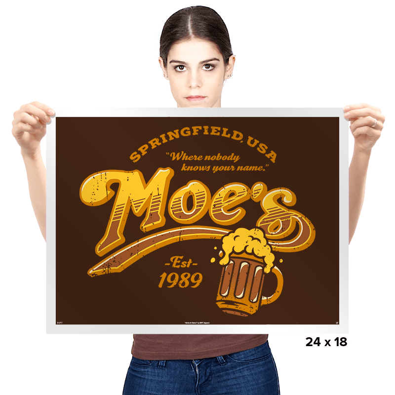 Moe's - Prints - Posters - RIPT Apparel