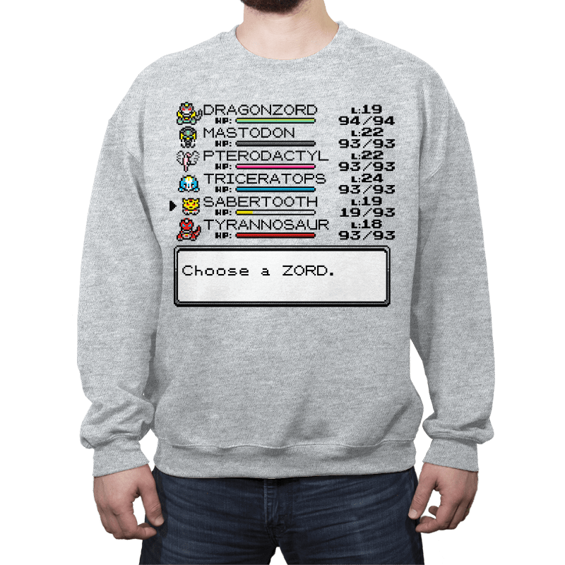 Summon Your Zord! - Crew Neck - Crew Neck - RIPT Apparel