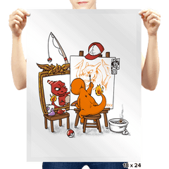 Evolutionary Self-Portrait: Fire - Prints - Posters - RIPT Apparel