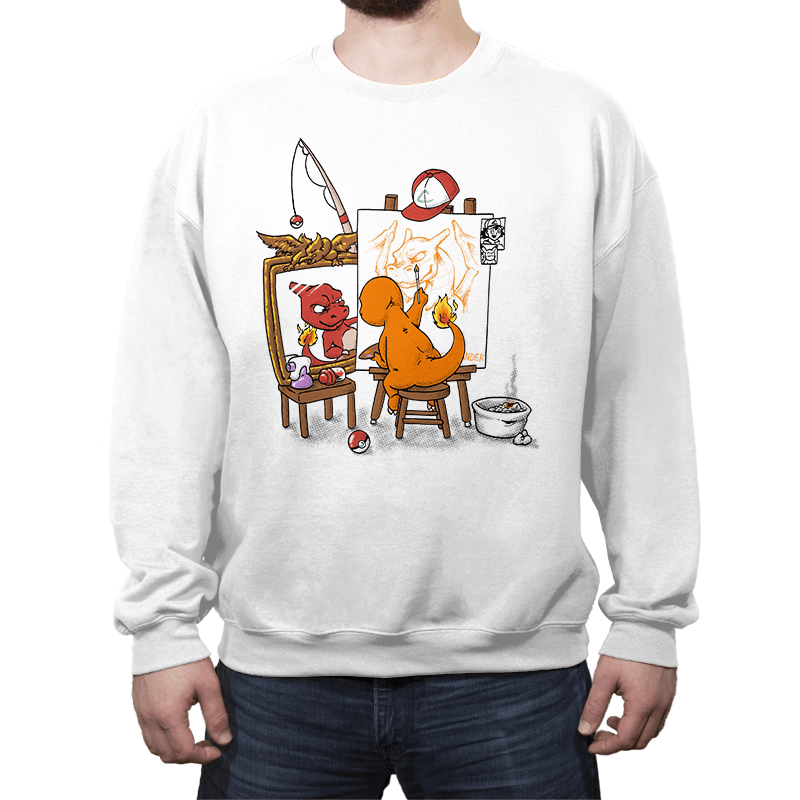 Evolutionary Self-Portrait: Fire - Crew Neck - Crew Neck - RIPT Apparel