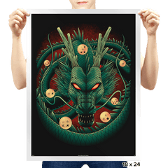 God Dragon - Prints - Posters - RIPT Apparel