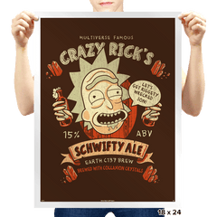 Schwifty Ale - Prints - Posters - RIPT Apparel