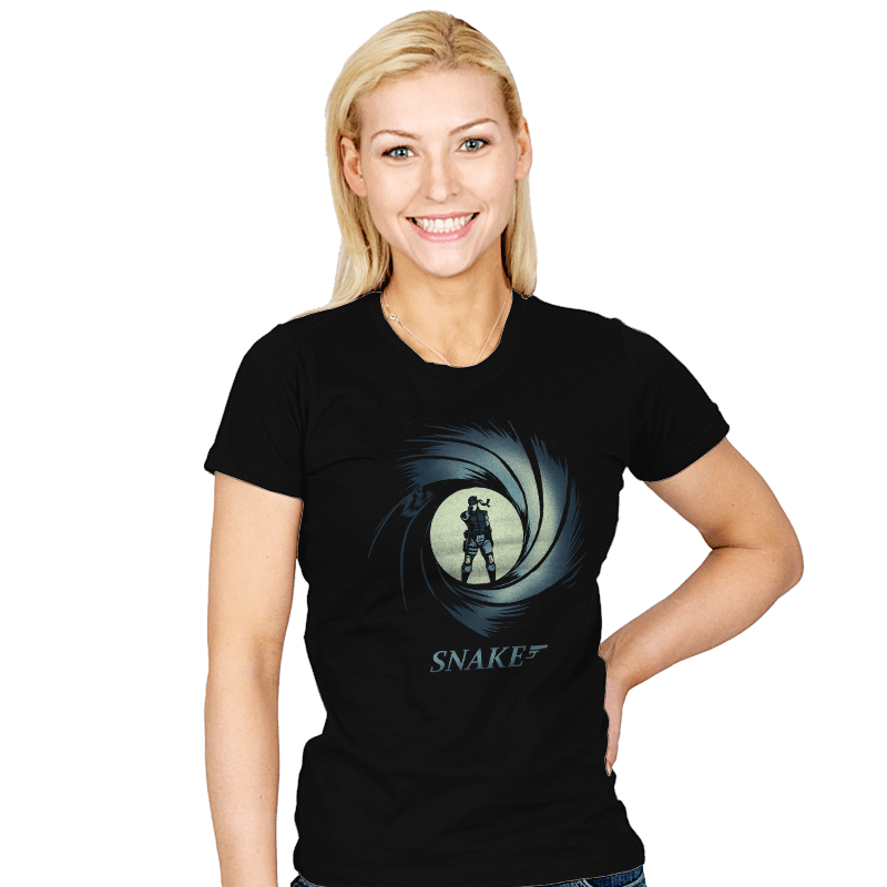 Snake, Solid Snake - Womens - T-Shirts - RIPT Apparel