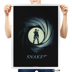Snake, Solid Snake - Prints - Posters - RIPT Apparel
