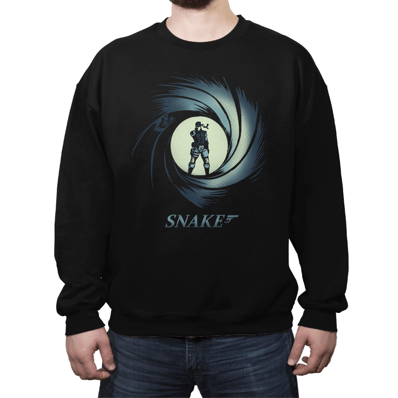 Snake, Solid Snake - Crew Neck - Crew Neck - RIPT Apparel
