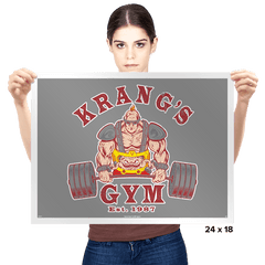 Krang's Gym - Prints - Posters - RIPT Apparel