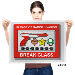 In Case of Gamer Invasion - Prints - Posters - RIPT Apparel