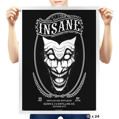 Insane Whiskey - Prints - Posters - RIPT Apparel