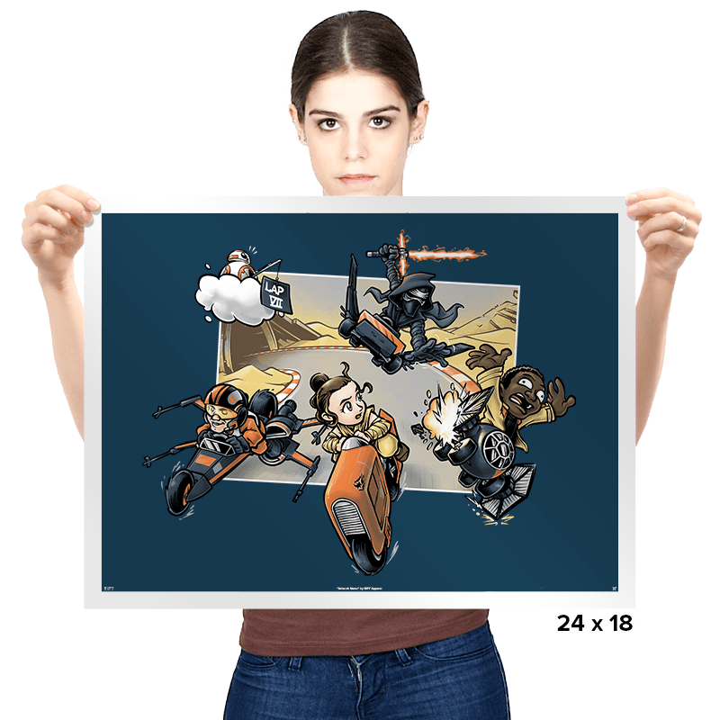 Super Star Kart: Lap VII Exclusive - Prints - Posters - RIPT Apparel