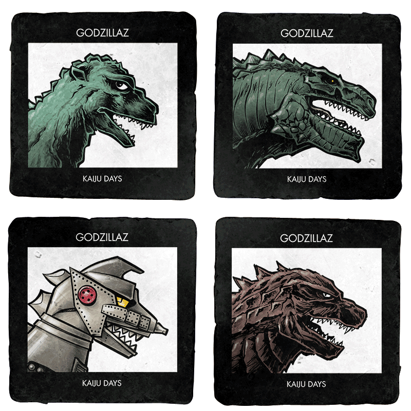 Kaiju Days Exclusive 4-Coaster Set - Coasters - Coasters - RIPT Apparel