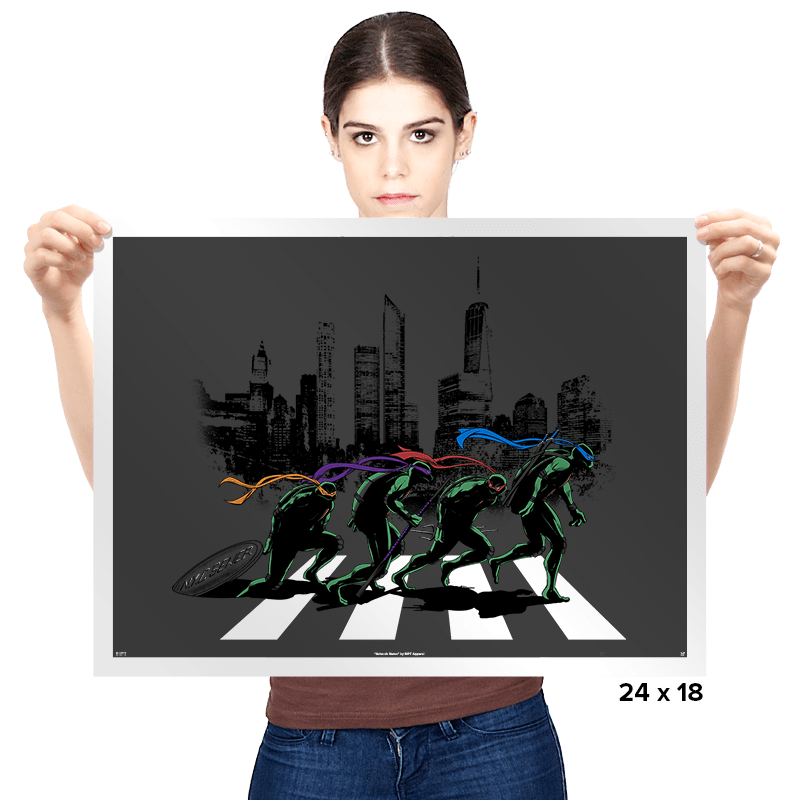 Turtle Road  - Prints - Posters - RIPT Apparel