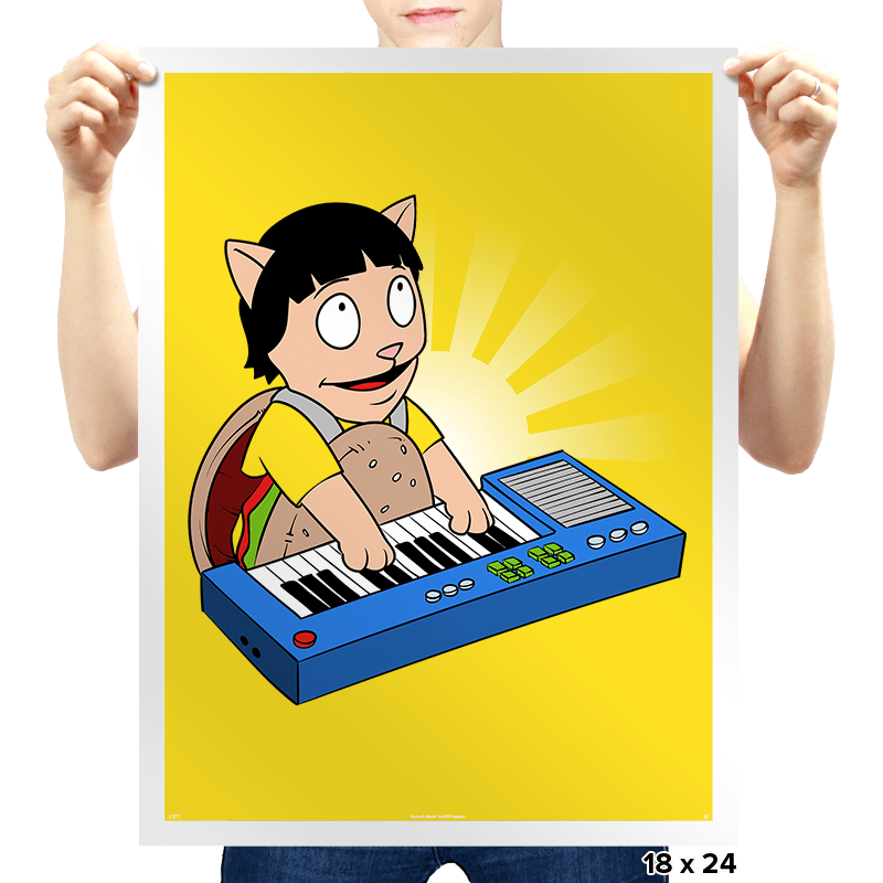 Keyboard Burger Cat - Prints - Posters - RIPT Apparel