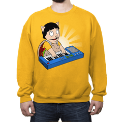 Keyboard Burger Cat - Crew Neck - Crew Neck - RIPT Apparel
