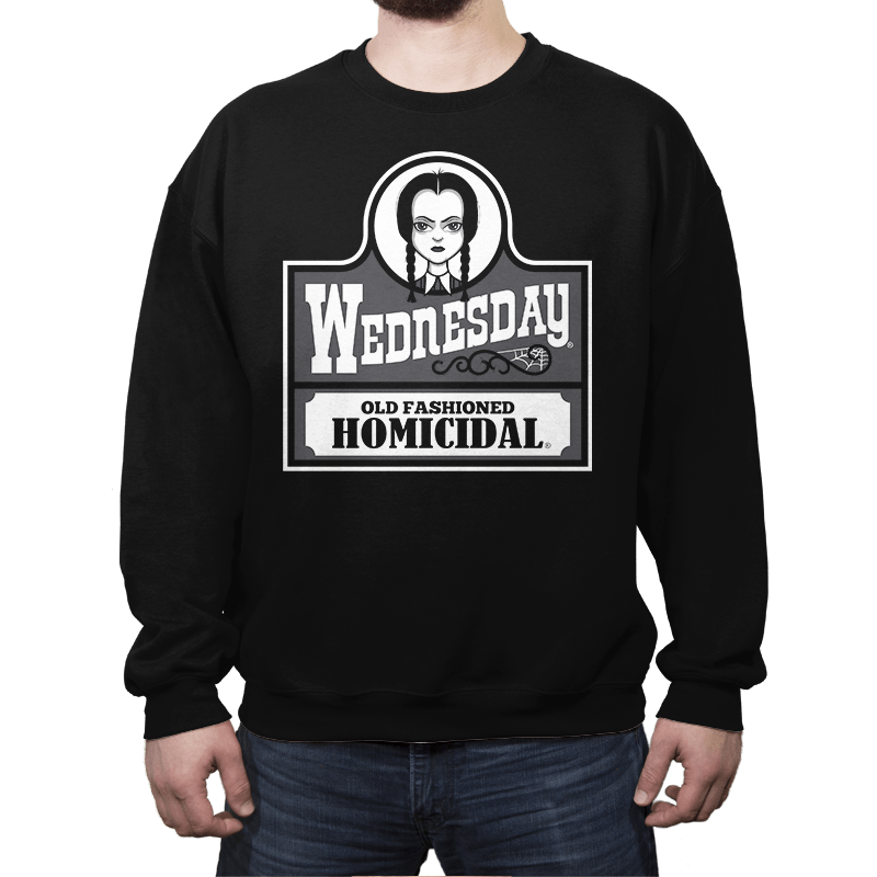 Old Fashioned Homicidal - Crew Neck - Crew Neck - RIPT Apparel