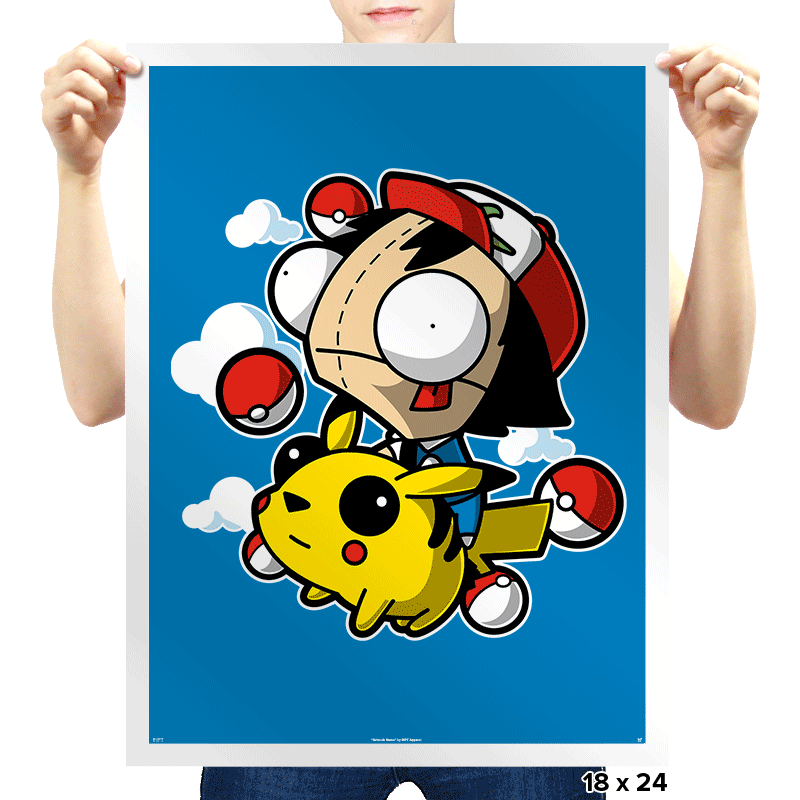 Invader Pokemon - Prints - Posters - RIPT Apparel