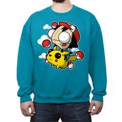 Invader Pokemon - Crew Neck - Crew Neck - RIPT Apparel